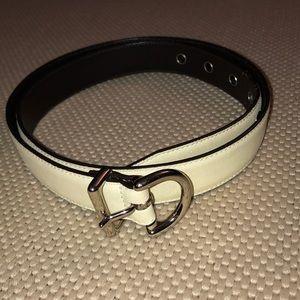 Coach cream leather belt